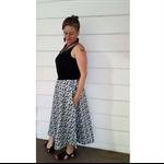 Blackand White Pocket Skirt.